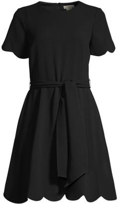 Shoshanna Jet Stretch Crepe Dress