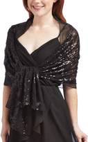 Cejon Black Sequin Scarf