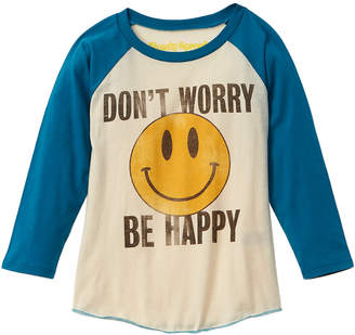 Rowdy Sprout Don't Worry Be Happy Raglan T-Shirt