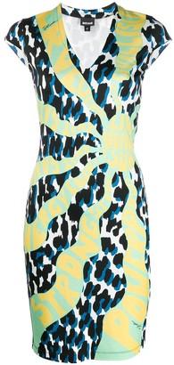 Just Cavalli graphic-print v-neck dress