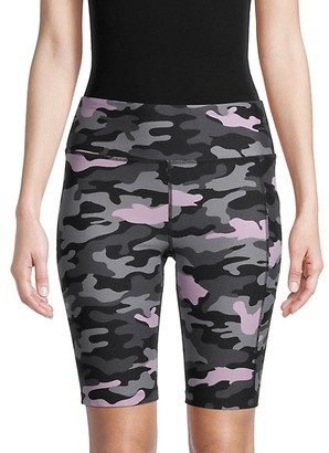 Calvin Klein High-Waist Camo Bicycle Shorts