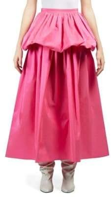 Taffeta Ruffle Maxi Skirt