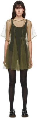 Molly Goddard SSENSE Exclusive Khaki Celeste Dress