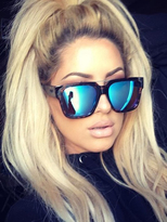 Quay X Chrisspy Mila Sunglasses in Tort/Blue Mirror