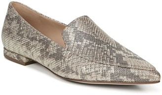 27 Edit Hannah Snakeskin Printed Pointed Toe Loafer - Multiple Widths Available