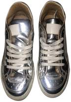 Maison Margiela Silver Leather Trainers