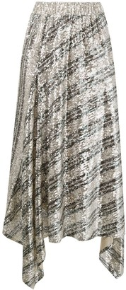 In The Mood For Love Sequin Draped Skirt