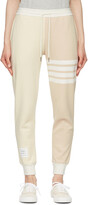Thumbnail for your product : Thom Browne Off-White & Beige Funmix 4-Bar Lounge Pants