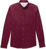 Brunello Cucinelli - Slim-fit Button-down Collar Cotton-corduroy Shirt