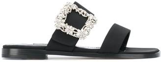 Manolo Blahnik Tituba flat sandals
