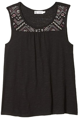Carve Designs Carmen Top (Black/Pink Emboridery) Women's Sleeveless