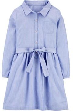 Carter's Little & Big Girls Chambray Shirt Dress