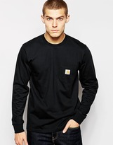 Carhartt Pocket Long Sleeve T-shirt - Black