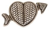 Kieselstein-Cord Sterling Heart Belt Buckle