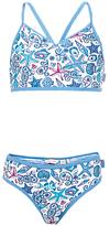 Fat Face Girls' Starfish Print Bikini, Blue