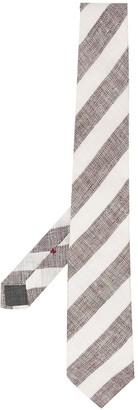 Brunello Cucinelli Striped Pointed Tie
