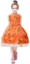 IBTOM CASTLE Girls Flower Princess Floral Dress Party Wedding Bridesmaid Pageant Formal Gown