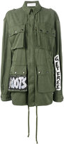 Faith Connexion hand-painted Crown Tag field jacket - women - Cotton - S