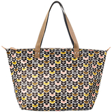 Orla Kiely Mini Wild Daisy Zip Shopper Bag, Multi