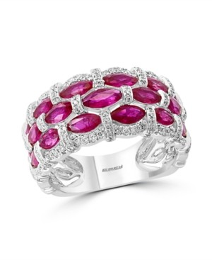 Effy Certified Ruby (1-1/3 ct. t.w.) & Diamond (1/3 ct. t.w.) Ring in 14k White Gold