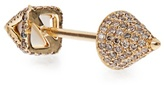 Elise Dray Diamond, agate & gold Piercing Facette earring