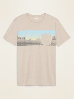 Old Navy Graphic Soft-Washed Chest-Pocket Tee for Men
