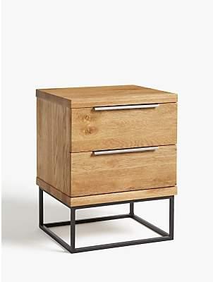 John Lewis & Partners Calia 2 Drawer Bedside Table, Oak