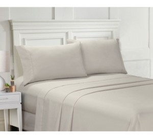 Ellen Tracy Microfiber Twin Solid and Print Sheet Set Bedding