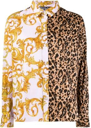 Versace Jeans Couture Mix-Print Poplin Shirt
