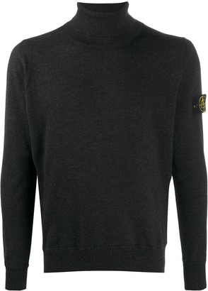 Stone Island Roll-Neck Logo Patch Jumper