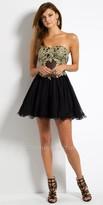 Camille La Vie Illusion Corset Homecoming Dress