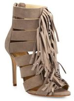 Schutz Marva Fringed Suede Booties