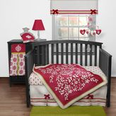 Banana Fish Bananafish Fucshia Damask 3-pc. Crib Bedding Set