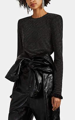 Philosophy di Lorenzo Serafini Women's Bead-Embellished Jersey Top - Black