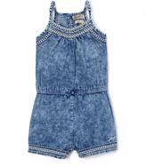 Lucky Brand Baja Blue Racerback Romper - Toddler & Girls
