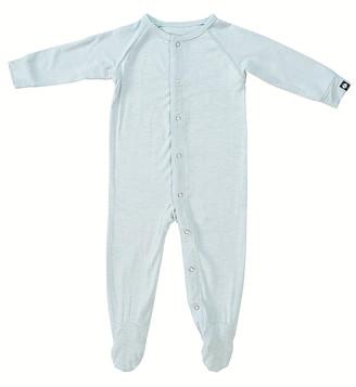 Sweet Bamboo Boys' Footies Blue - Blue Heather Snap-Button Placket Footie - Newborn & Infant