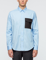 Ami Wide Fit Shirt With Flannel Pocket