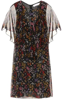 See by Chloe Floral-printed fil coupe silk dress