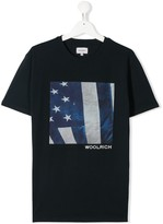 Woolrich Kids TEEN logo graphic print T-shirt