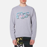 Kenzo Embroidered Logo Sweater Pearl Grey