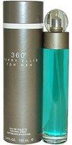 Perry Ellis 360 by for Men Eau De Toilette Spray, 3.4 Ounce