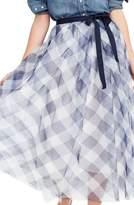 J.Crew J. CREW Gingham Tulle Skirt
