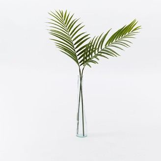west elm Faux Green Palm Plant Leaf Branch