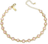 INC International Concepts Gold-Tone Blush Stone Choker Necklace, Only at Macy's