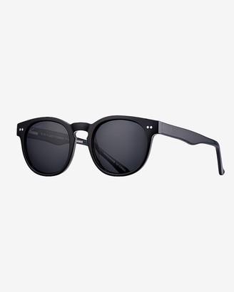Express Blue Planet Eco-Eyewear Indie Round Polarized Sunglasses