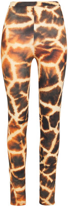 Roberto Cavalli Printed Stretch-jersey Leggings