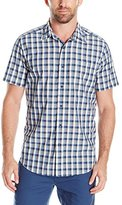 Nautica Men's Classic Fit Check Short Sleeve Shirt