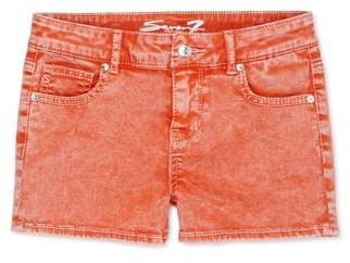 Seven7 Girls 7-16 Neon Acid Wash 5 Pocket Short