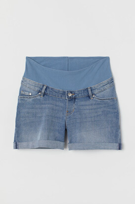 H&M MAMA Denim Shorts - Blue
