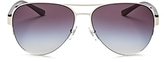 Tory Burch Rimless Aviator Sunglasses, 59mm